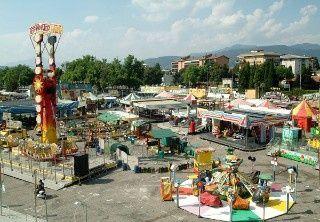 Giostre a Bergamo, luna park di primavera