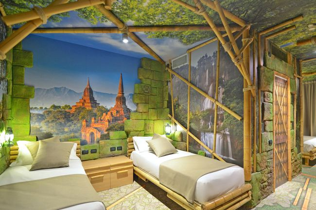 Gardaland Adventure Hotel, camera a tema Jungle Adventure