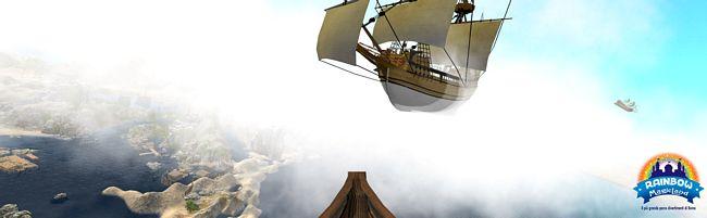 realtà virtuale sull'Olandese Volante di Rainbow Magicland