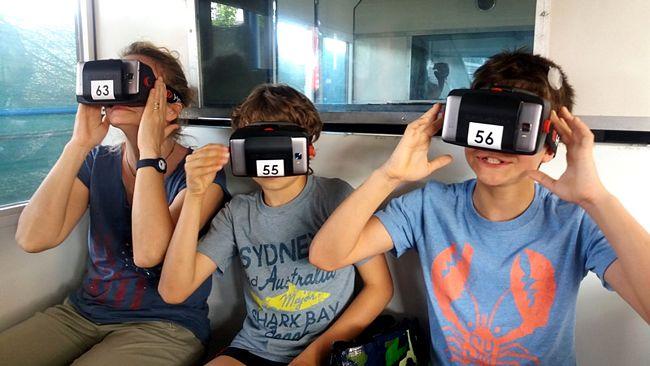 realtà virtuale sulla monorotaia del parco italia in miniatura di rimini