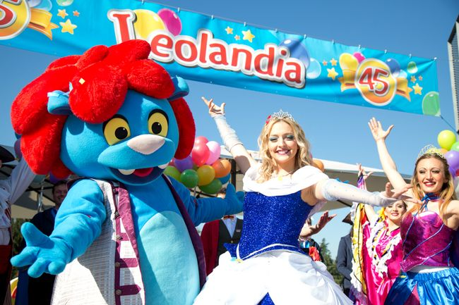 Mascotte del parco divertimenti Leolandia