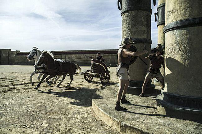 Cinecittà World novità 2017: Corsa delle bighe nel set del film Ben Hur
