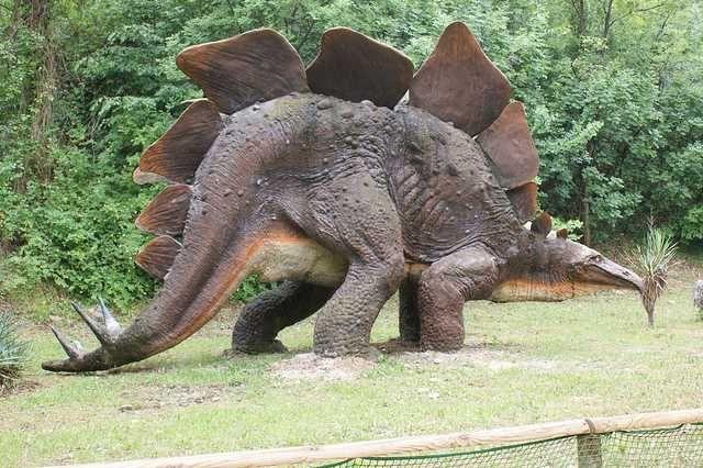 percorso dinosauri del parco Natura Viva a Bussolengo