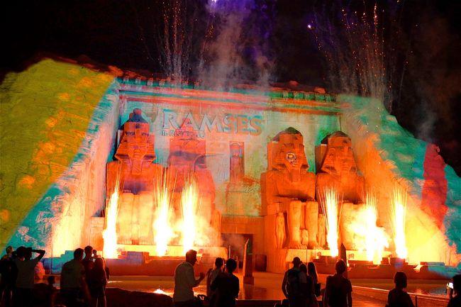 Nuovo spettacolo serale di Gardaland davanti a Ramses
