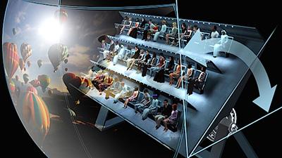 Volarium, il nuovo cinema volante di Cinecittà World