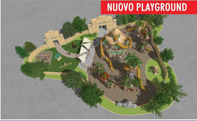 Nuovo Playground per  bambini a Rainbow Magicland