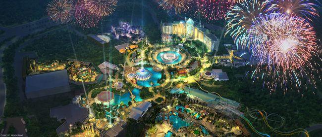 Artwork del nuovo parco Universal a Orlando: Epic Universe