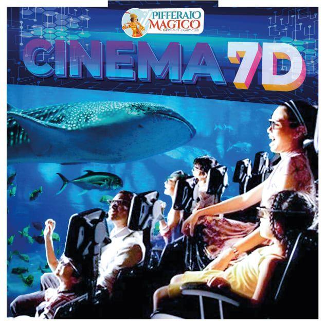 Cinema 7D al parco giochi gonfiabili Pifferaio Magico in Sicilia
