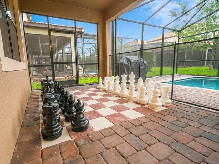 Wizard's Way Villa Orlando: zona per il gioco degli scacchi