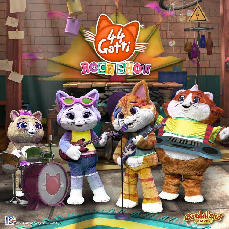 Nuovo spettacolo per bambini 44 gatti Rock Show