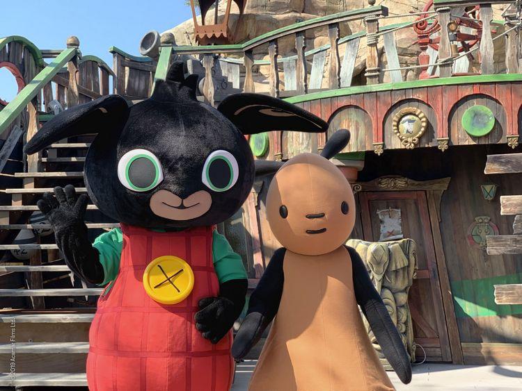 Personaggi del nuovo spettacolo per bambini di Leolandia