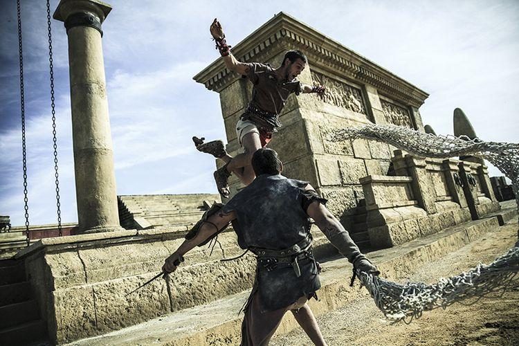 Gladiatori sul set di Ben Hur a Roma World