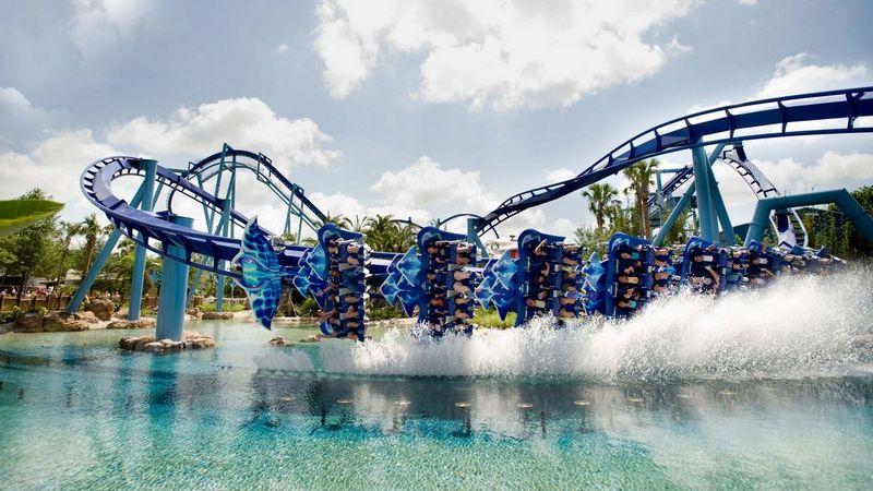 Fly Coaster Manta al Sea World di Orlando (Florida)