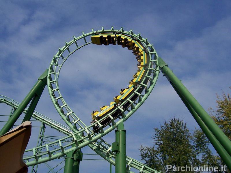 Giro della morte del roller coaster Magic Mountain di Gardaland