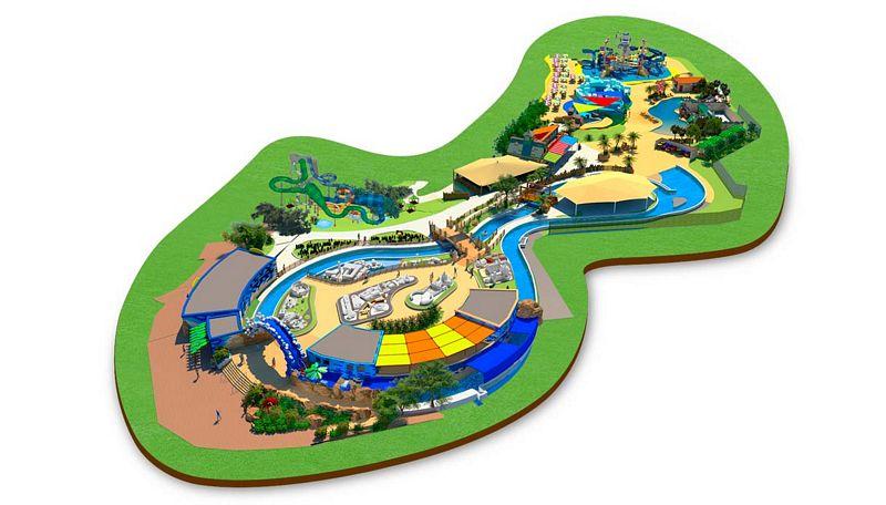 Mappa del nuovo parco acquatico a tema Lego di Gardaland