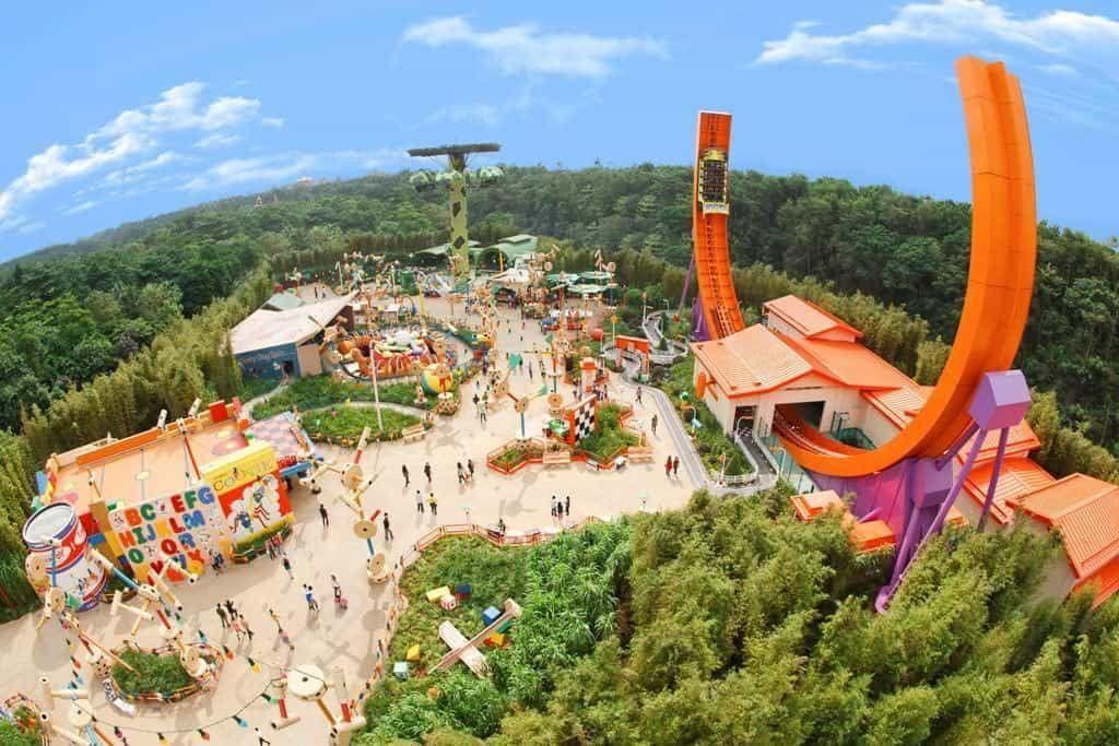 Vista dall'alto dell'Area Toy Story Playland ai Walt Disney Studios Paris