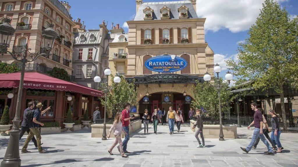 Ingresso della dark ride dei Walt Disney Studios Paris ispirata a Ratatouille