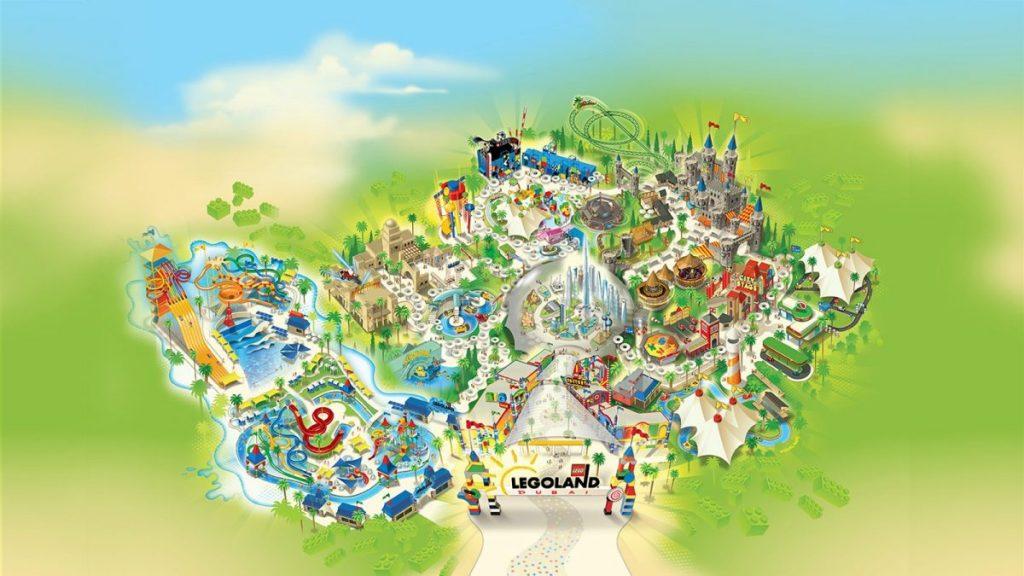 Mappa del parco Legoland a Dubai