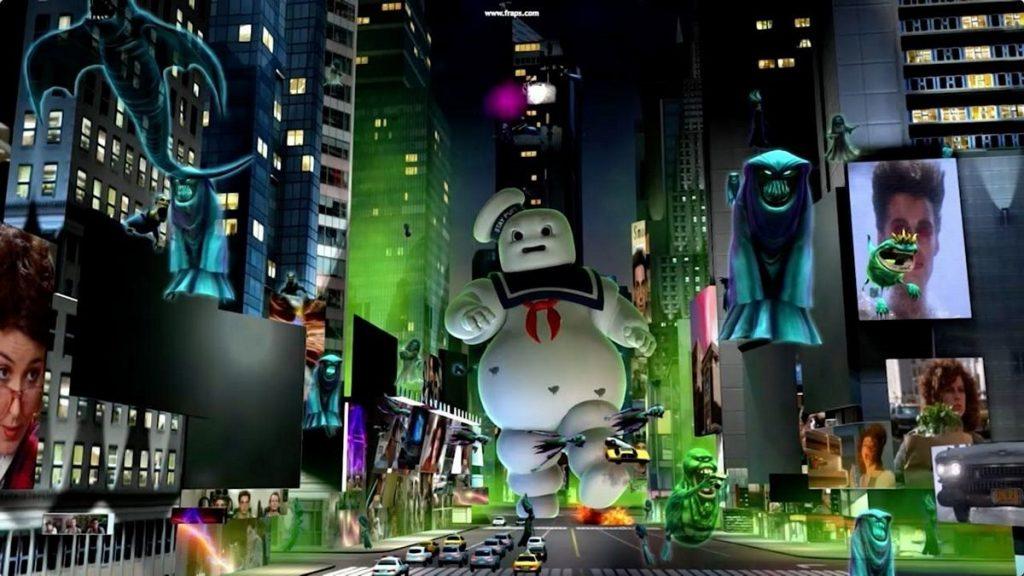 Attrazione ispirata ai Ghostbusters del parco Motiongate di Dubai